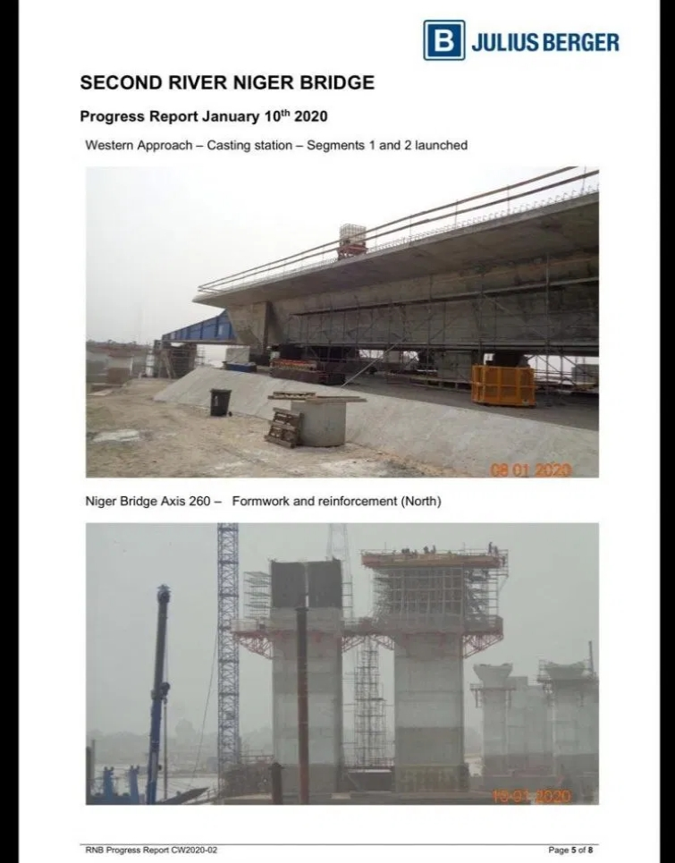 PHOTOS: Julius Berger Releases Fresh Images And Report On Progress Of Second Niger Bridge 6