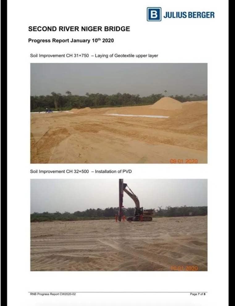 PHOTOS: Julius Berger Releases Fresh Images And Report On Progress Of Second Niger Bridge 8