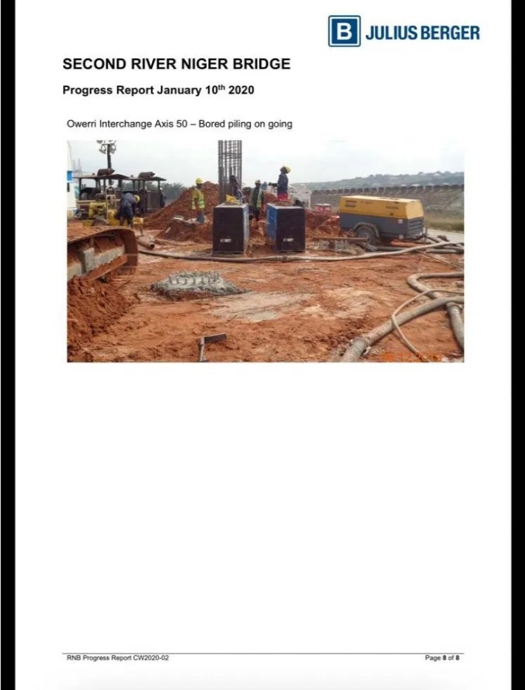 PHOTOS: Julius Berger Releases Fresh Images And Report On Progress Of Second Niger Bridge 9