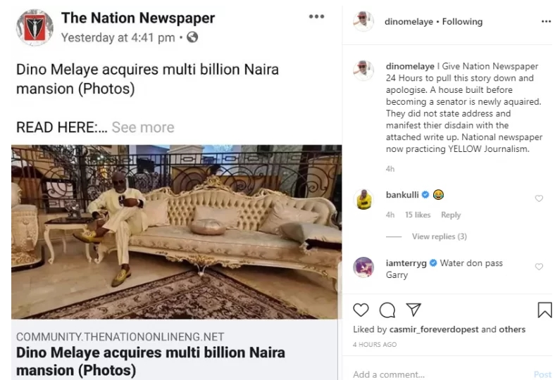 Dino Melaye Gives The Nation Newspaper 24hrs To Pull Down Report On His Multi-Billion Mansion 2