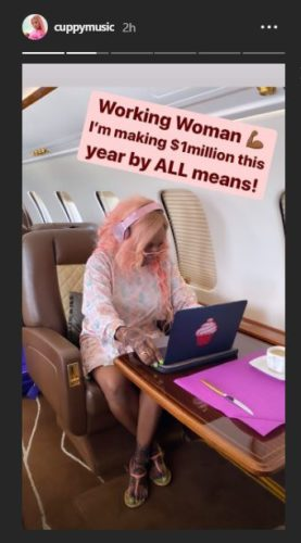 """""""I Must Make One Million Dollars By All Means This Year"""" – DJ Cuppy Vows 2"""