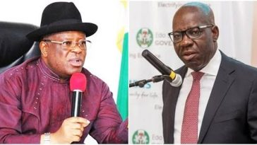 """No Man Can Unseat Your Husband As Edo Governor"" - Umahi Tells Obaseki's Wife 1"