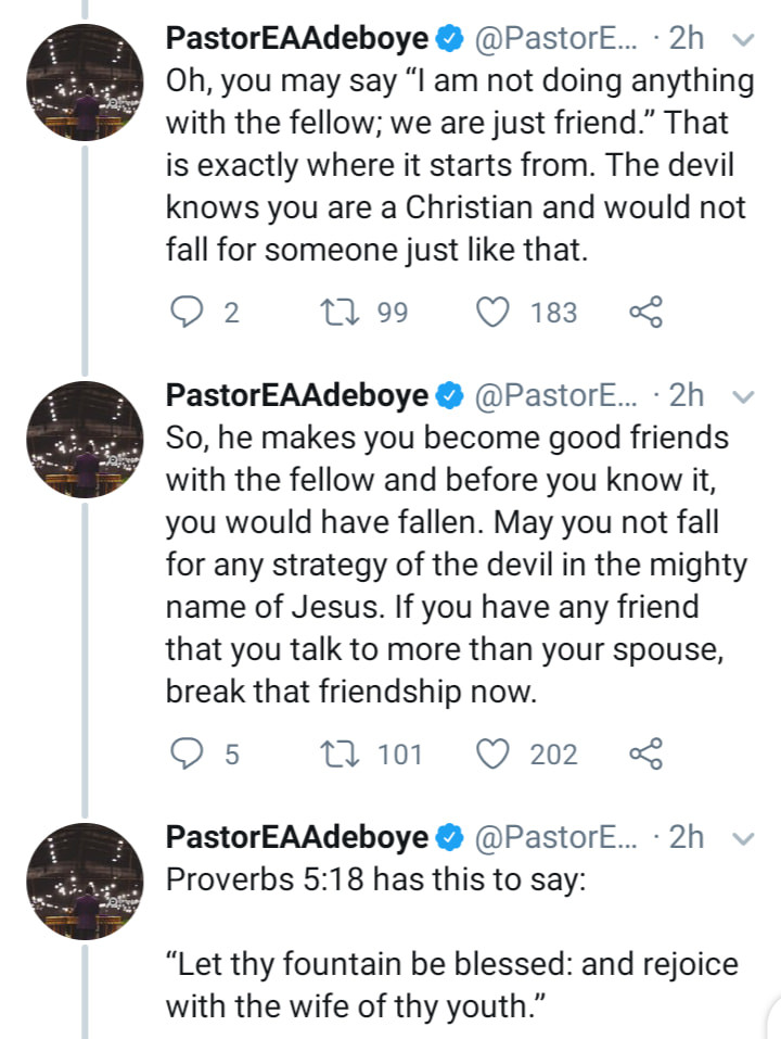 Outrage Among Nigerians As Pastor Adeboye Reveals Why He Asked His Son To Sack His Female Secretary 3