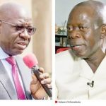 EDO: Governor Obaseki Angry Over Oshiomhole's 'Stubbornness', Threatens To Deal With Him 34
