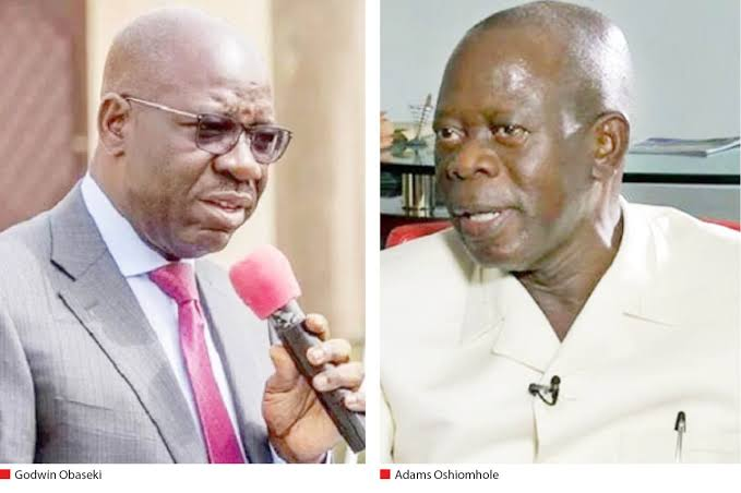 EDO: Governor Obaseki Angry Over Oshiomhole's 'Stubbornness', Threatens To Deal With Him 1