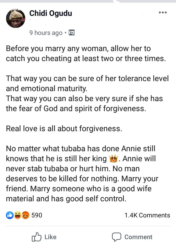 """""""Before You Marry Any Woman, Allow Her Catch You Cheating At Least 3 Times"""" – Barrister Ogudu 2"""