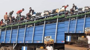 Trailer Loads Of Okada And Keke Napep Spotted Leaving Lagos As Ban Takes Effect Today [Video] 5