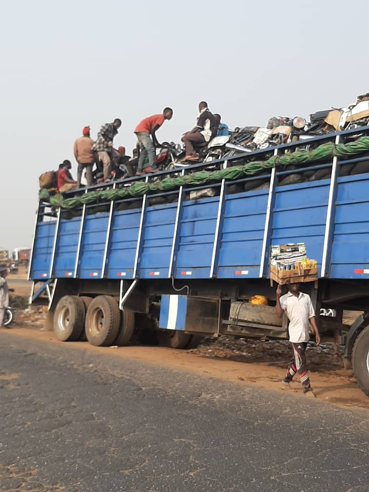Trailer Loads Of Okada And Keke Napep Spotted Leaving Lagos As Ban Takes Effect Today [Video] 1