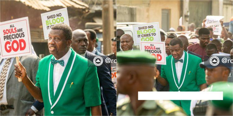 Pastor Adeboye Leads Church Members To Protest Against Killings, Insecurity [Photos/Video] 1