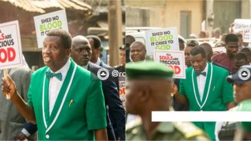 Pastor Adeboye Leads Church Members To Protest Against Killings, Insecurity [Photos/Video] 7