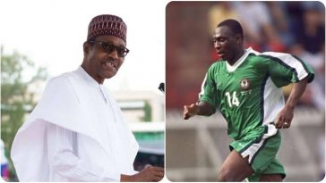 President Buhari Appoints Daniel Amokachi As Nigeria's Football Ambassador 2
