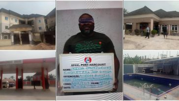 EFCC Arrests Yahoo Kingpin Who Scammed US Bank, Seizes His Mansions & Fuel Station [Photos] 3