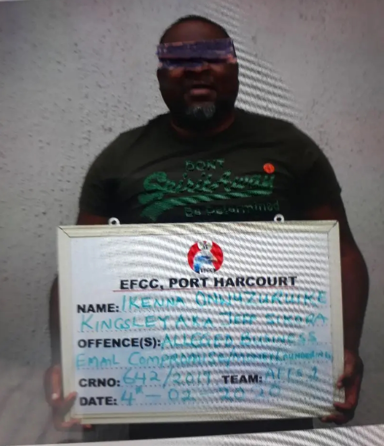 EFCC Arrests Yahoo Kingpin Who Scammed US Bank, Seizes His Mansions & Fuel Station [Photos] 1