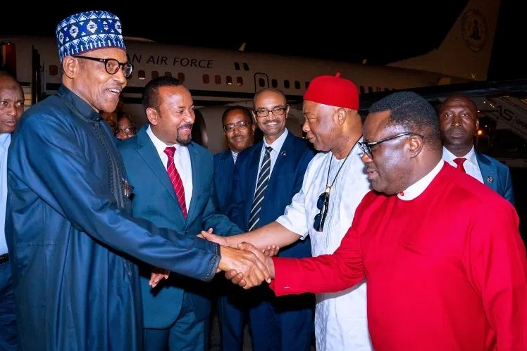 Buhari, Uzodinma And Ayade Travels To Addis Ababa For AU Meeting In Ethiopia [Photos] 2