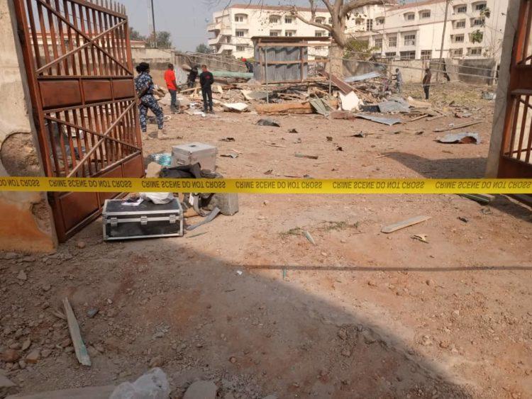 Pandemonium As Bomb Explosion Rocks Ekiti Government House [Photos] 1