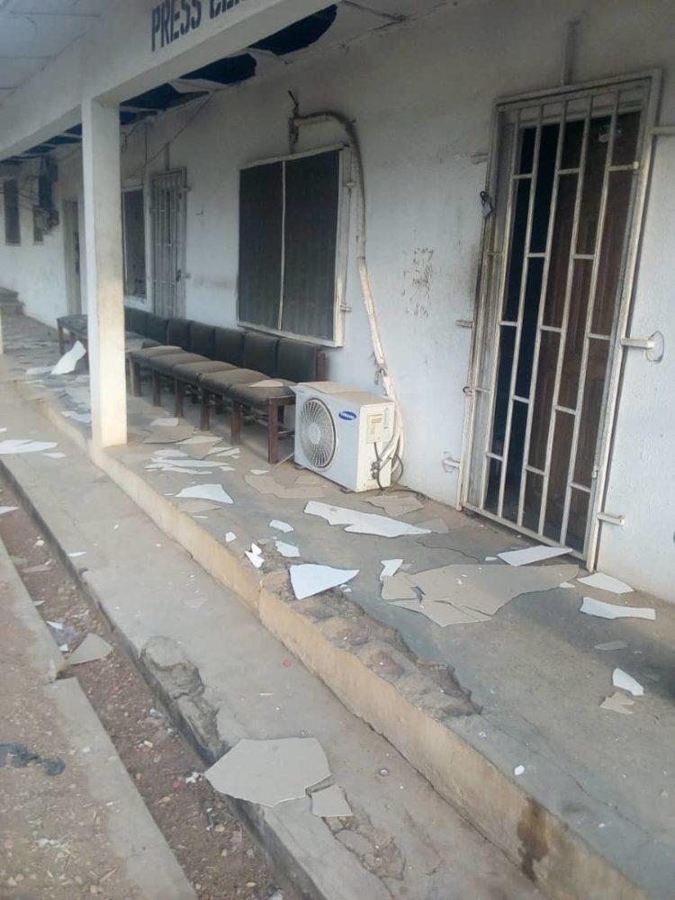 Pandemonium As Bomb Explosion Rocks Ekiti Government House [Photos] 7