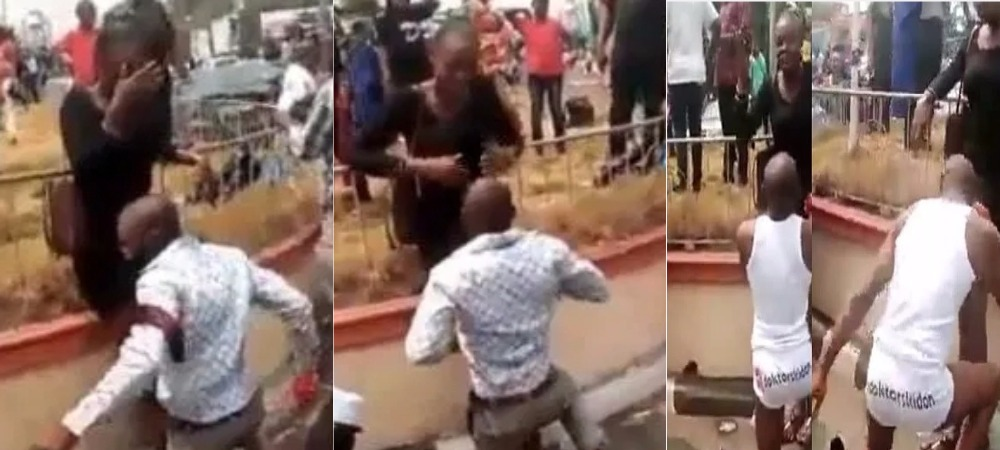 Man Strips To Underwear After Lady Publicly Turned Down His Marriage Proposal In Calabar [Video] 1