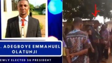 Nigerian Polytechnic SUG President Caught During Aiye Cult Meeting In Full Regalia [Video] 3