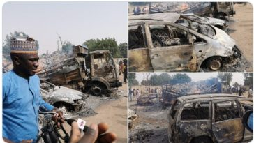 30 Persons Killed As Boko Haram Insurgents Abducts Passengers On Maiduguri-Damaturu Highway 10