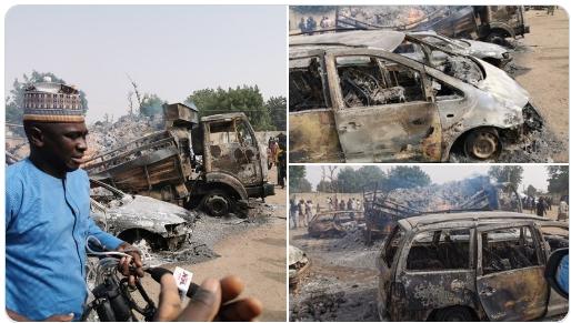30 Persons Killed As Boko Haram Insurgents Abducts Passengers On Maiduguri-Damaturu Highway 1