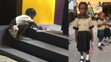 FCMB Gifts Little Girl N1million, Awards Her Scholarship For Using ATM Light To Write Her Assignment 5