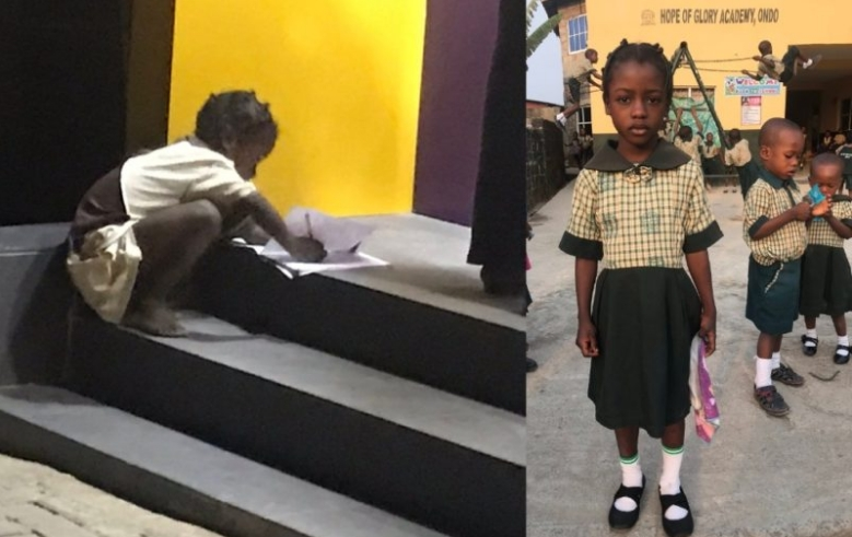 FCMB Gifts Little Girl N1million, Awards Her Scholarship For Using ATM Light To Write Her Assignment 1