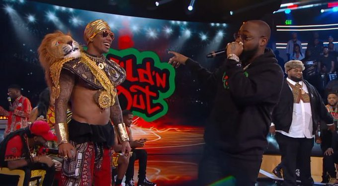 """Nigerians Reacts As Davido Raps And Performs """"Fall' On Nick Cannon's Wild N' Out [Video] 1"""