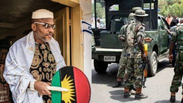 Nigerian Soldiers Block Entrance To Nnamdi Kanu's Residence Ahead Of His Parents' Burial 7