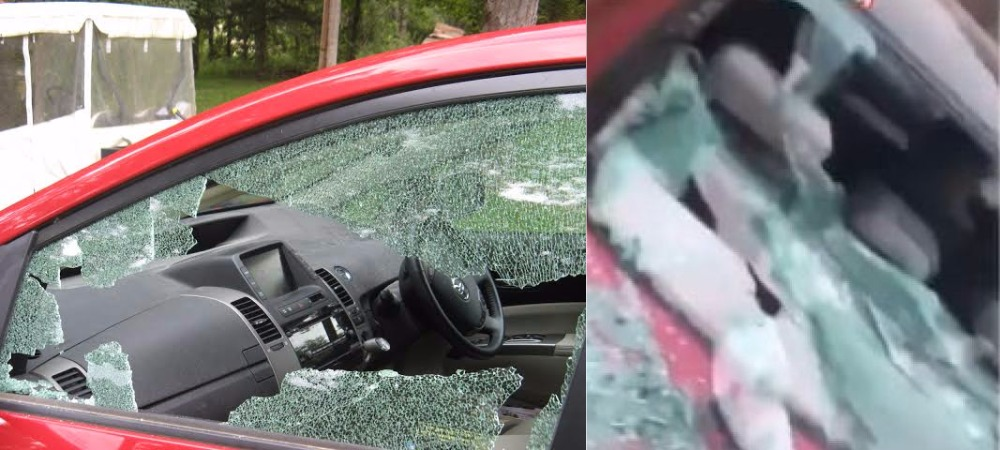 Woman Gives Valentine's Gift To Ex-Boyfriend By Destroying His New Car In Lagos [Video] 1