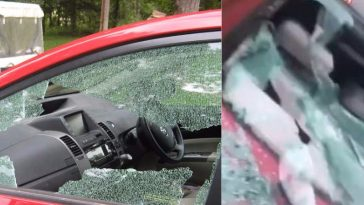 Woman Gives Valentine's Gift To Ex-Boyfriend By Destroying His New Car In Lagos [Video] 3