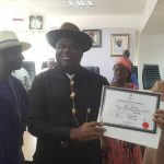 INEC Confirms Duoye Diri As Bayelsa Governor-Elect, Presents Certificate Of Return To Him 27