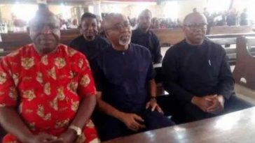 Peter Obi, Enyinnaya Abaribe, Victor Umeh Attends Burial Of Nnamdi Kanu's Parents In Abia 10