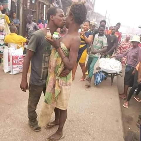 Viral Photos Of Mentally Challenged Couple Celebrating Valentine's Day On The Street Of Edo 1
