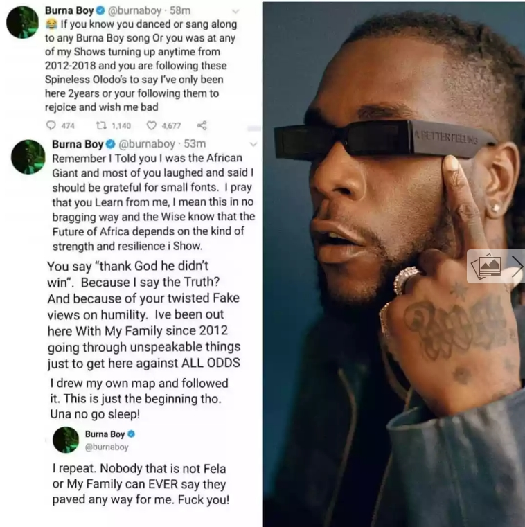 I Repeat, Nobody Paved Way For Me Except Fela And My Family – Burna Boy Insists 2