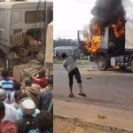 Mob Sets 2 Fully Loaded Dangote Cement Trucks Ablaze After Crushing 6 To Death In Ogun [Photos] 10