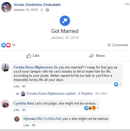 Man Ends Marriage After Seeing Wife's Reckless Comment On How To Murder Cheating Husbands 4