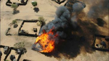 Chibok Residents Run For Safety As Boko Haram Insurgents Sets Many Houses On Fire 5
