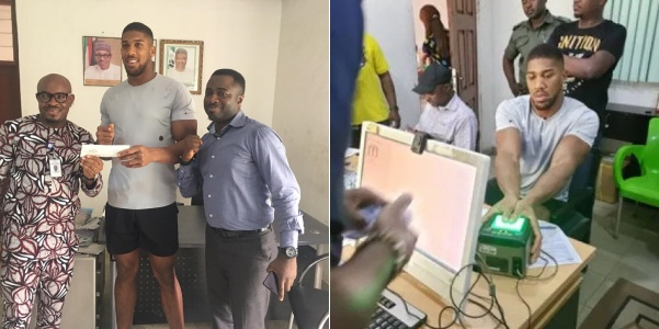 Nigerians React As Anthony Joshua Registers For National ID Card, Issued NIN Slip Same Day 1