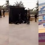 Nigerian Soldiers Flogs SARS Operatives Mercilessly For Trying To Raid Their Colonel's Hotel [Video] 27