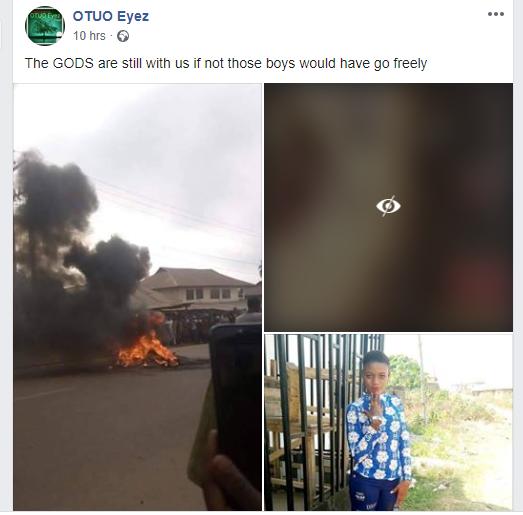 2 Yahoo Boys, Native Doctor, Kidnapper Burnt Alive For Killing 17-Year-Old Girl In Edo [Photos] 5