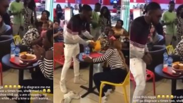 Angry Nigerian Man Disgraces Girlfriend After She Rejected His Marriage Proposal In Public [Video] 7