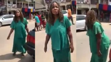 Woman Runs Mad After Being Dropped Off By Suspected Ritualist In Sapele, Delta State [Video] 3