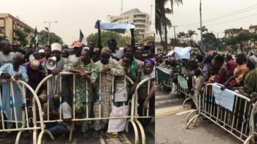 Over 1000 Beggars Protest At Lagos State House Of Assembly And Governor Sanwo-Olu's Office 5