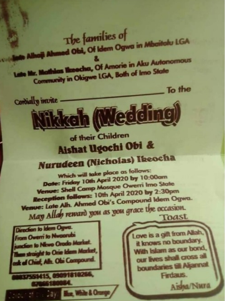 Imo State Lovers Who Converted To Islam, Set To Hold First Igbo Islamic Marriage In Owerri [Photos] 2