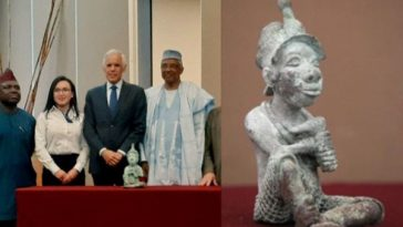 Mexico Returns Ancient Bronze Sculpture That Was Illegally Exported From Nigeria [Photos] 5