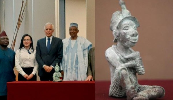 Mexico Returns Ancient Bronze Sculpture That Was Illegally Exported From Nigeria [Photos] 1