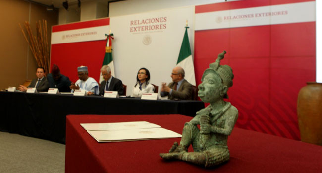 Mexico Returns Ancient Bronze Sculpture That Was Illegally Exported From Nigeria [Photos] 2
