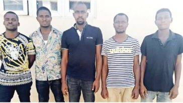 Police Arrests Five-Man Robbery Gang Who Make Millions Stealing From Construction Sites In Abuja 6