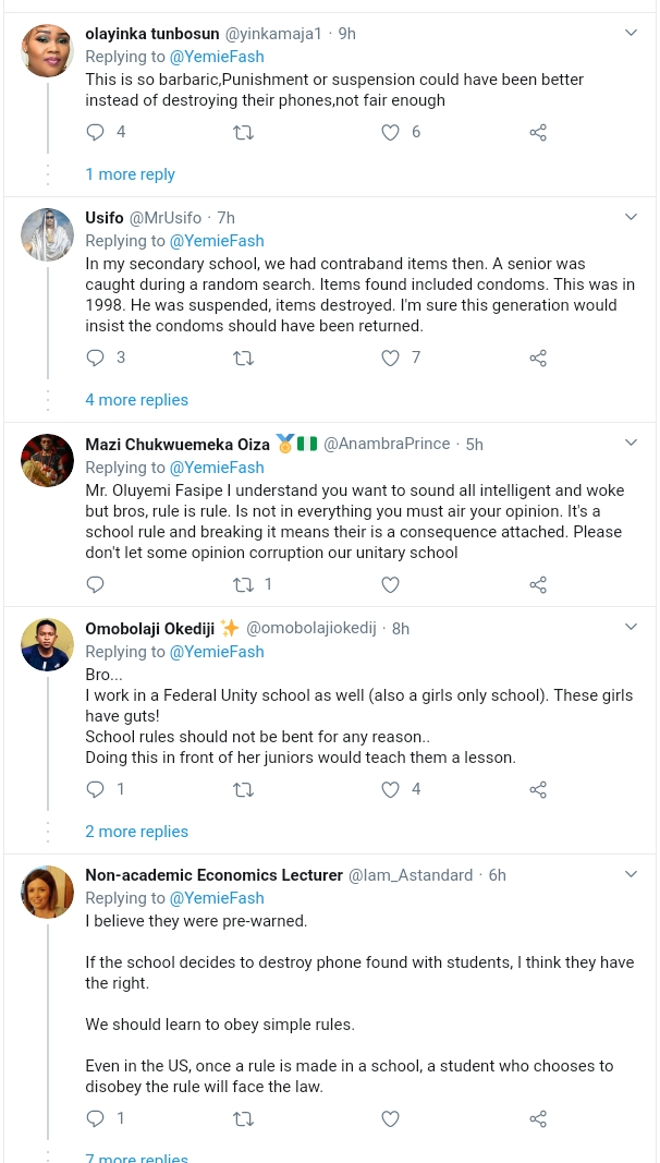 Nigerians Reacts As Teacher Asks Student To Destroy Her Phone And Those Of Her Schoolmates [Video] 8