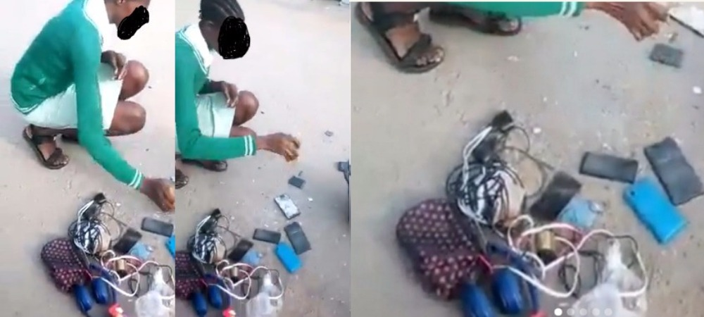 Nigerians Reacts As Teacher Asks Student To Destroy Her Phone And Those Of Her Schoolmates [Video] 1